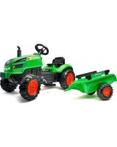 Falk Traktor na pedale sa prikolicom Zeleni