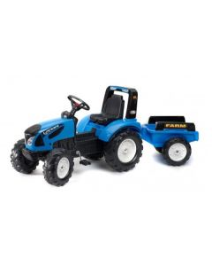 Falk Traktor na pedale za decu plavi