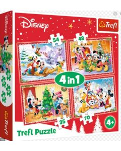"Trefl Puzzle Slagalica ""4in1"" Christmas Time"