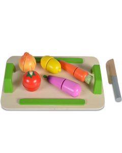 Daska za sečenje (5 povrćki + drveni nož)