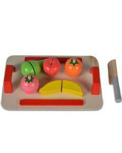 Daska za sečenje (5 voćki + drveni nož)