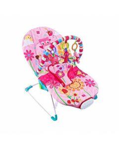 Fitch baby ležaljka pink sa muzikom i vibracijom