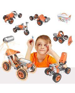 Hoogar Kids Igračka Building Blocks Crvena vozila Set 5u1 J-7785