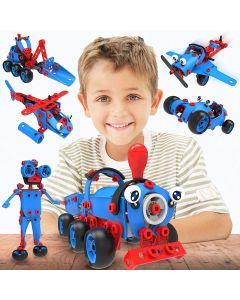 Hoogar Kids Igračka Building Blocks Plavi robot set 6u1 J-7757