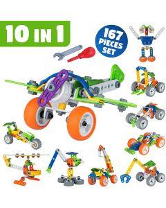 Hoogar Kids Igračka Building Blocks Set 10u1 Hoos Robot J-7749
