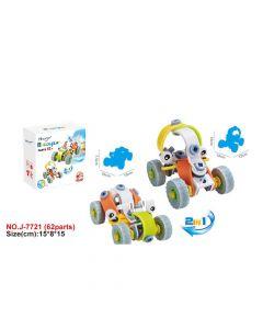 Hoogar Kids Igračka Building Blocks Set 2u1 Cartoon auto J-7721