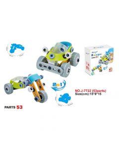 Hoogar Kids Igračka Building Blocks Set 2u1 Cartoon car + bike J-7722