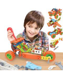 Hoogar Kids Igračka Building Blocks Set 5u1 Crvena vozila J-7752