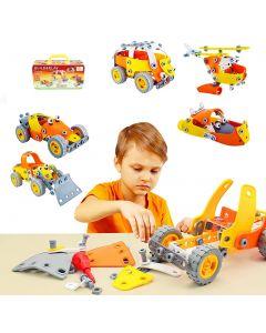 Hoogar Kids Igračka Edukativni građevinski set 5u1 J-202