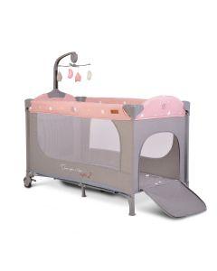 Prenosivi krevetić sa vrteškom - Once upon a time - 2 nivoa - pink