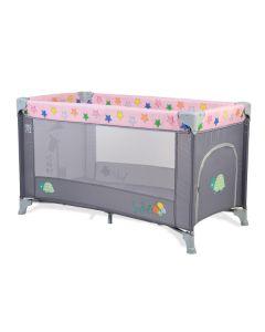 Prenosivi krevetić Safari I nivo pink-sivo