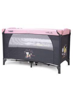 Prenosivi Krevetić Tommy 2 nivoa Pink