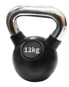 Ručni teg - Kettlebell -  gumiran 12 kg