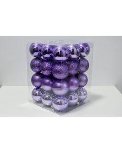 Novogodišnji ukrasi set 36 komada purple