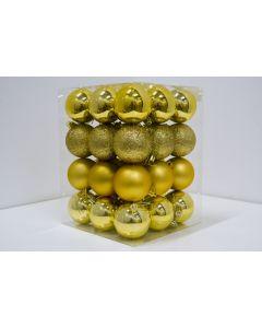 Novogodišnji ukrasi set 36 komada gold