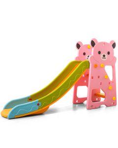 Tobogan Slide Bear 168cm + Koš - Pink