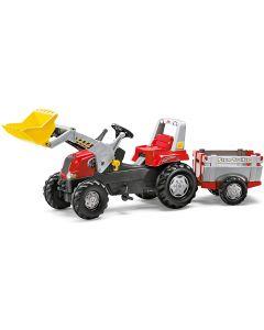Traktor na pedale Rolly Toys junior RT  + prikolica + kasika