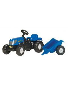 Traktor na pedale Rolly Toys Kid X sa prikolicom