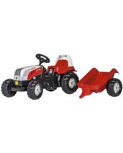 Traktor na pedale Rolly Toys Steyr kid sa prikolicom