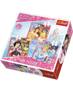 Trefl Puzzle Disney Princess 3in1