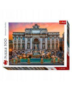 Trefl Puzzle Fontanna di Trevi Roma 500 kom