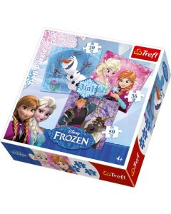 Trefl Puzzle Frozen 3in1