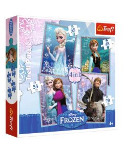 Trefl Puzzle Frozen 4in1
