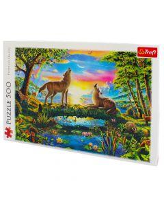 Trefl Puzzle Slagalica Lupine nature 500 kom