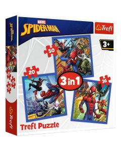 Trefl Puzzle Spider-man 3in1