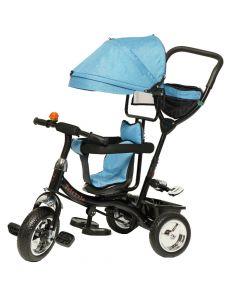 Tricikl Delfino Aurora sa rotirajućim sedištem Plavi