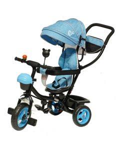 Tricikl Delfino Vega sa rotirajućim sedištem Plavi